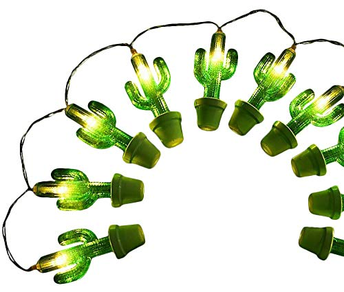 Plus Nao(プラスナオ) イルミネーションライト LEDライト 電池式 ハロウィン クリスマス サボテンモチーフ 1m 2m 10球 20球 メキシカンテイ - 2m