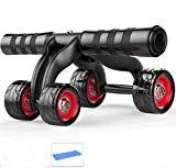 Amazon.co.jp(クチュールブライダル)CoutureBridal 腹筋ローラー 筋トレ 胸筋 背筋 コロコロ 静音 4輪 ストッパー マット付 ダイエット器具