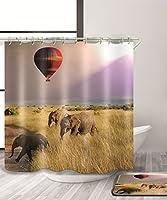 LIANGJUN シャワーカーテン 特別な自然の風景3D印刷シャワーカーテン防水Mouldproof浴室カーテンフック(11サイズ) (色 : C, サイズ さいず : 120*180CM)