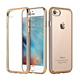 Bepack I phone 7 ケース,超薄型透明柔らかさめっきケースiPhone 7 4.7 Inchに対応(ゴールド)