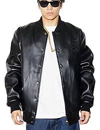 (ディーオーピー) DOP スタジャン メンズ PUレザージャケット 中綿入り ブルゾン 大きいサイズ b系 ストリート系 ファッション