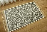 屋内 室内 用 玄関マット ロイヤルパレス 14650 クリーム サイズ約 67х105 cm ベルギー 輸入 モケット織 薄型 カーペット