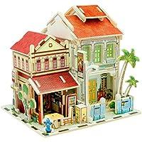 inverlee 3dパズル子供DIY Assemble Mini木製家モデル家具ハンドクラフトミニチュアボックスクリエイティブギフトおもちゃ One Size