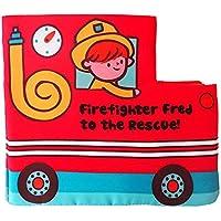 ZhenyuブックQuietブック布ベビーソフトブックFire Truck形状布ブック幼児教育玩具の男の子と女の子Touch and Feelアクティビティ
