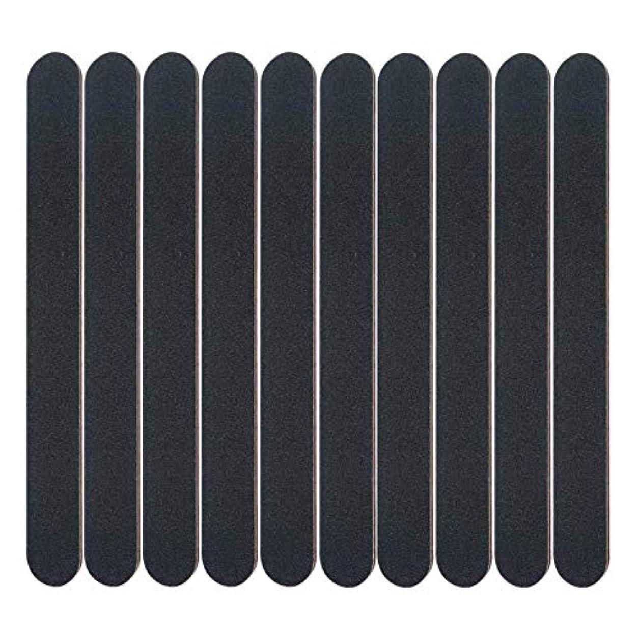 お風呂葬儀背の高い10個ネイルファイル、両面エメリーボードサンディングブロックアートマニキュアツール、黒