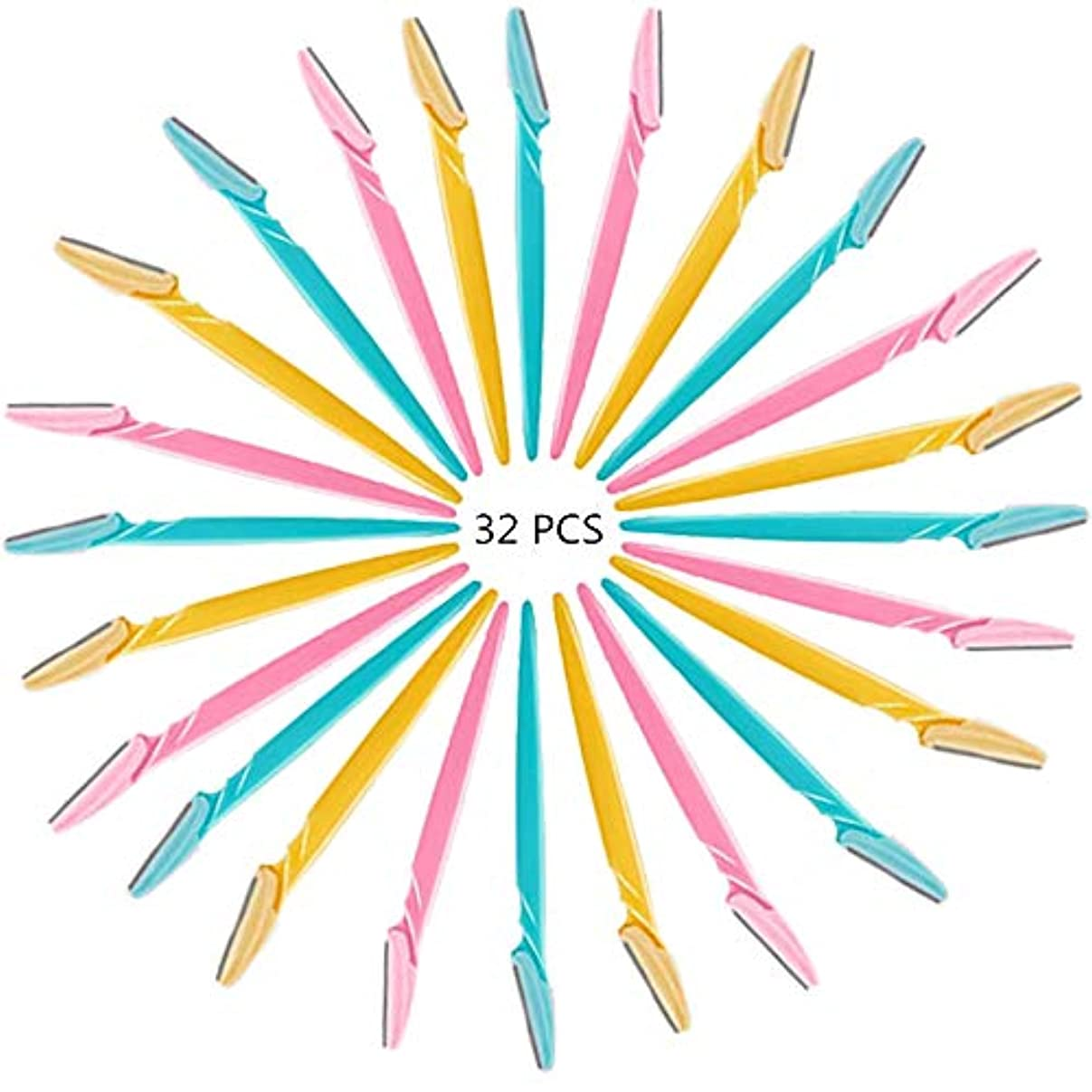 チップ流体提出するATROPOSS 顔そり用 眉剃り用ナイフ 眉そりに最適 敏感肌用 使い捨て 3色*30本