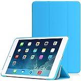iPad Mini 3 /2 /1 ケース - ATiC Apple iPad Mini3 (2014)/ Mini2 (2013)/ Mini (2012)タブレット専用開閉式三つ折薄型スタンドケース。 Light BLUE (オートスリープ機能付き)(iPad mini 4に適応ない)