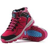 [LoZoDo] 男女兼用 ウォーキングシューズ 大きいサイズ トレッキング シューズ ハイカット 防滑 登山靴