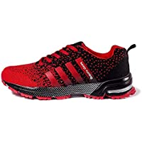 FUSHITON Men's Lightweight Breathable Running Shoes Comfortable Mesh Sports Athletic Sneakers Fashion Casual Walking Lace-up Roading Shoes