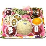 旬の果物 詰め合わせ Lサイズ 静岡県産マスクメロン1玉入り 日本 果物 ギフト 父の日 お中元 御中元 お盆 御供え物 フルーツギフト