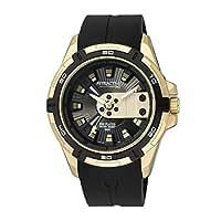 [シチズン キューアンドキュー]CITIZEN Q&Q 腕時計 ウォッチ アトラクティブ 5気圧防水 ラバーベルト ゴールド メンズ [並行輸入品]