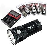 ThruNite TN36 LED フラッシュライト Max 7300 ルーメン 18650充電池×4本使用  4段階明るさ切替機能+Turboモード+Strobeモード(電池別売り) (TN36 UT NW+MCC-4S+T3400*4)