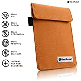 Silent Pocket Signal Blocking Faraday Key Fob Case - Car Anti Theft Device Shielding Against All Signal Types, Including RFID Blocking & Durable Faraday Bag (Hunter Orange)