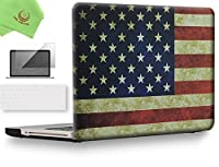 """ueswill 3in1Smooth柔らかい手触りマットつや消しハードシェルケースwithシリコンキーボード+スクリーンプロテクターカバーfor MacBook Pro +マイクロファイバークリーニングクロス MacBook Pro 13"""" (CD-ROM Drive) UES03F13P3-25"""