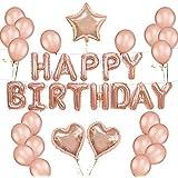 誕生日 飾り付け 装飾 バルーン 特大 HAPPY BIRTHDAYキラキラバルーンセット シャンパンカラー 空気入れ ポンプ 付き