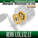 【Abu/アブ】 Revo レボ LTX LTZ LT用 軽量浅溝スプール Avail Microcast Spool RVLTX32RR (溝深さ3.2mm) ゴールド