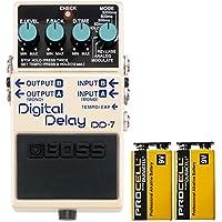 BOSS コンパクトエフェクター 最大6.4秒のディレイ・タイム、8つのモードによる多彩なサウンドが演出できる高性能ディレイ。 +信頼の9Vアルカリ電池PROCELL 2個付き DD-7(Digital Delay)