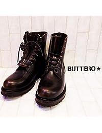 (ブッテロ) BUTTERO ファイアーマンブーツ レザー ブラック PE-ASPOH 01 NERO