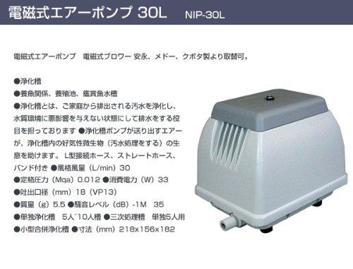 日本電興(NIHON DENKO) 電磁式エアーポンプ 30L NIP-30L ホワイト