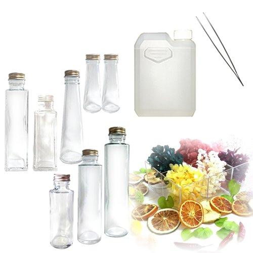ハーバリウムスターターセット/8本ボトル ピンセット ハーバリウムオイル 花材のセット