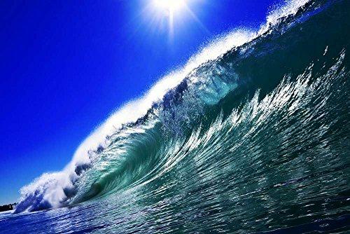 巨大な波 自然の風景 景観 家の装飾ポスター(33x50cm)