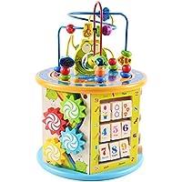 アクティビティキューブEarly Learning CentreベビーおもちゃBead Maze多目的教育木製Activity Centre Great for Age 2 to 6 + Years Old子幼児ギフト