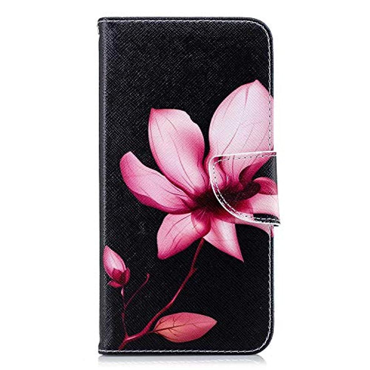 放つヘビー極めて重要なOMATENTI iPhone XS Max ケース, ファッション人気 PUレザー 手帳 軽量 電話ケース 耐衝撃性 落下防止 薄型 スマホケースザー 付きスタンド機能, マグネット開閉式 そしてカード収納 iPhone XS Max 用 Case Cover, 花