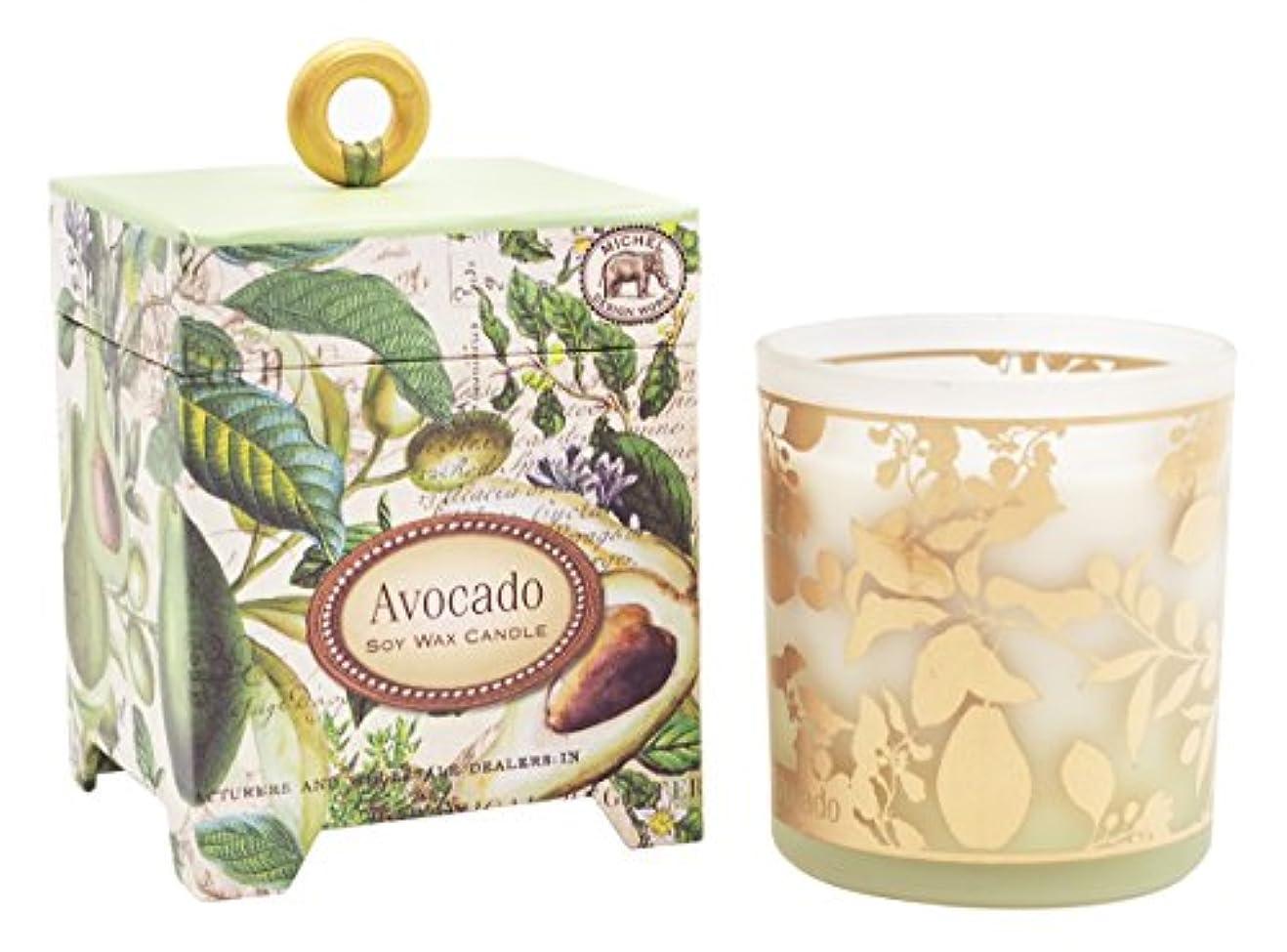 ローン湿ったリーミッシェルデザインワークス アロマキャンドル (アボカド) 香り:ハーバルアボカド MD-CAN259