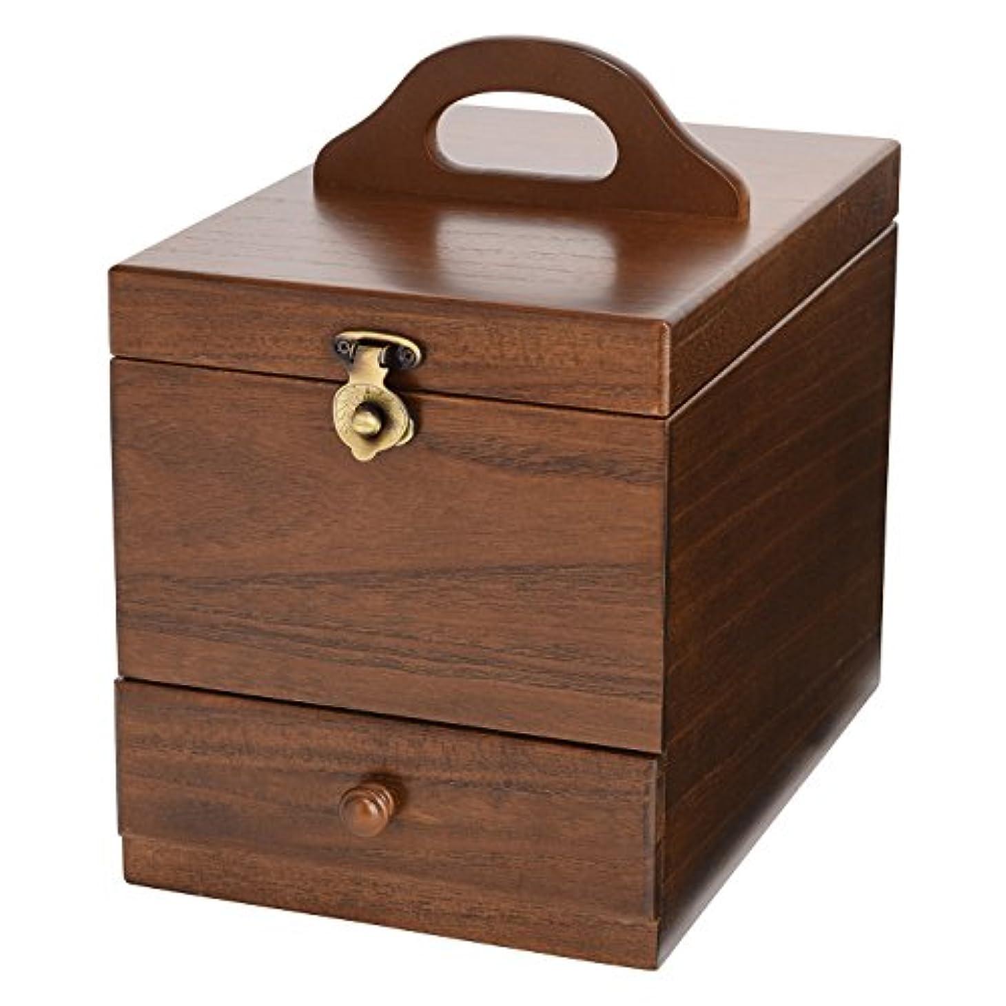 デュアル備品安心させるコスメボックス 日本製 静岡の熟練の木工職人の手作り 017-513