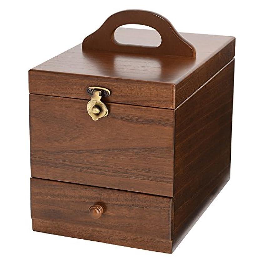 場所抜本的な権限コスメボックス 日本製 静岡の熟練の木工職人の手作り 017-513