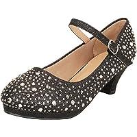 Cambridge Select Girls' Mary Jane Crystal Rhinestone Platform Low Heel Dress Pump (Toddler/Little Kid/Big Kid)