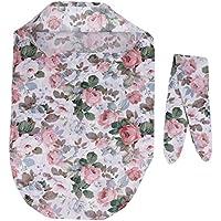 SONONIA 赤ちゃん  新生児  花柄  スワドル  ラップ ブランケット  寝袋  ヘッドバンド  セット  ソフトコットン  全3スタイル - スタイル1