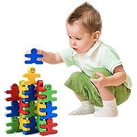 naovio木製バランスブロックStacking建物ブロックパズルゲーム、develops Fineモータースキル