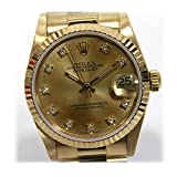 ROLEX(ロレックス) デイトジャスト ボーイズ腕時計 K18YG(750) 10P旧ダイヤ 自動巻 68278G 仕上げ済み [中古]