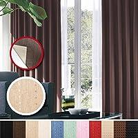 窓美人 センチュリオン 完全遮光 特殊コーティングカーテン 幅100×丈200cm 2枚入り ベージュ ストライプ柄 断熱・遮熱・防音 形状記憶付