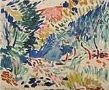 ' Landscape at Collioure 1905By Henri Matisse '油絵、30x 36インチ/ 76x 93cm、高品質の印刷ポリエステルキャンバス、このReproductionsアート装飾キャンバスプリントは、バーのインテリアにピッタリとホームギャラリーアートとギフト