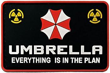 SHENKEL PVC製 バイオハザード アンブレラ社 エンブレム ワッペン 54x83mm パッチ ベルクロ付き UMBRELLA