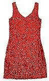 DFギャラリー ドレス ミニワンピース スパンコール衣装 ノースリーブ Vネック 伸縮素材 DB85038