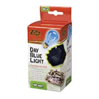 Zilla Reptile Terrarium Heat Lamps Incandescent Bulb, Day Blue, 50W by Zilla