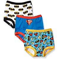 DC Comics Boys BTP1780 Toddler Superman, Batman and More Training Pants Training Underwear - Multi