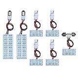 エスティマ 30 系 40 系 MCR30W , ACR30W , MCR40W , ACR40W FLUX LED ルームランプ 7 点 セット 64連