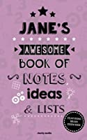 Jane's Awesome Book of Notes, Lists & Ideas: Featuring Brain Exercises!