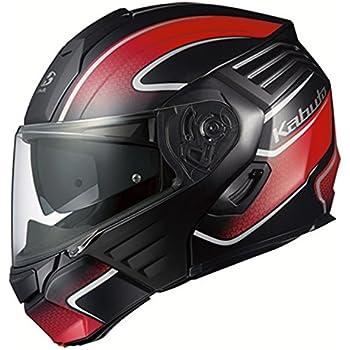 オージーケーカブト(OGK KABUTO)バイクヘルメット システム KAZAMI XCEVA(エクセヴァ) フラットブラックレッド (サイズ:L) 571719