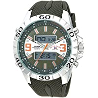 U.S. Polo Assn. Men's Quartz Metal and Rubber Casual Watch, Color:Green (Model: US9628)