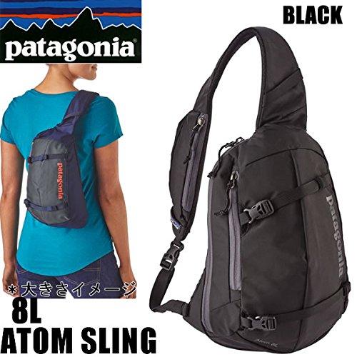 パタゴニア PATAGONIA パタゴニア リュック ショルダーバッグ ATOM SLING 8L ブラック アトムスリング BLK バックパック・リュックサック