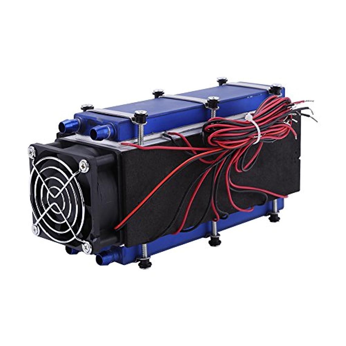 部フライカイト追い払うミニエアコン、DC 12V 576W 8チップTEC1-12706 DIY 熱電冷却装置 空気冷却装置