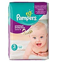 [Pampers] パンパースアクティブフィットサイズ3(Midi)を必須パック46のおむつ - Pampers Active Fit Size 3 (Midi) Essential Pack 46 Nappies [並行輸入品]