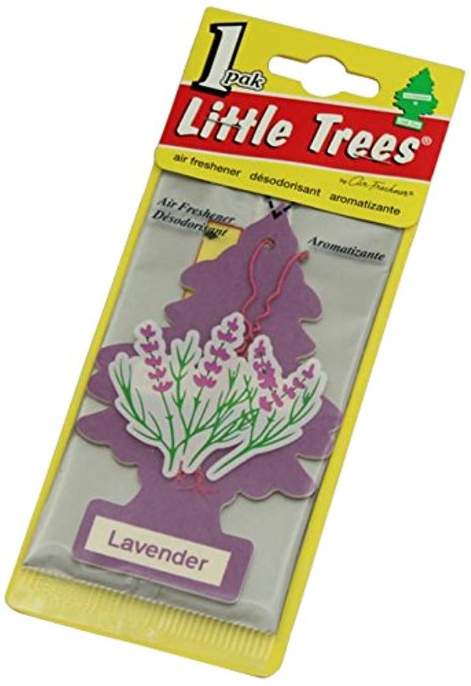 インフルエンザ減衰大破Little Trees 吊下げタイプ エアーフレッシュナー ラベンダー 4枚セット(4P)