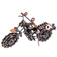 Zhhlinyuan Metal Crafts Decoration Home Furnishings Large Iron Motorcycle Model Creative おもちゃ for child