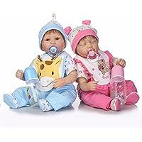 ピンキー42 cm 17インチRealistic Lookingソフトシリコンビニールベビー人形Lifelike人形Reborn Girl Boy Twins Babies磁気口ダミー